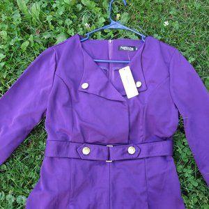 NWT Fashion Mia Purple Retro Looking Dress size M